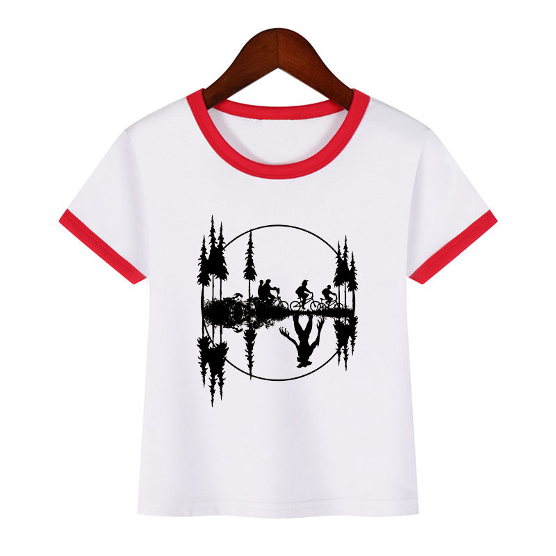 Kids Stranger Things T-shirt Fashion Cartoon Short Sleeve Funny T-shirt Casual Tops