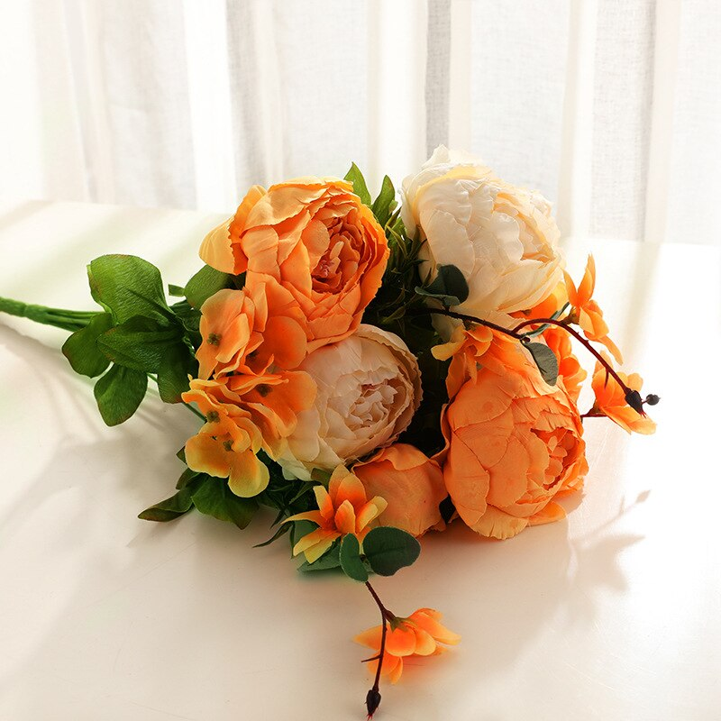 Artificial Flowers 1 Bunch Artificial Peony Decorative Fake Flowers