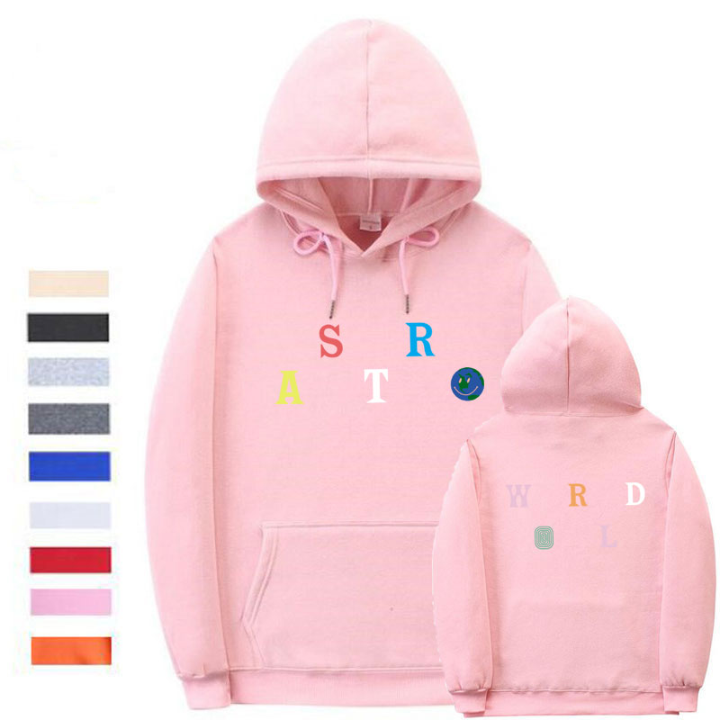 Unisex Streetwear Astroworld Hoodie Letter Print Pullover