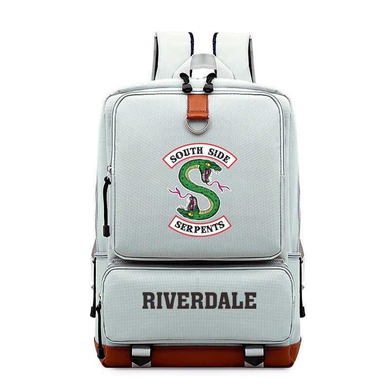 Teenagers Backpack South Side Serpents Riverdale Snake Schoolbag