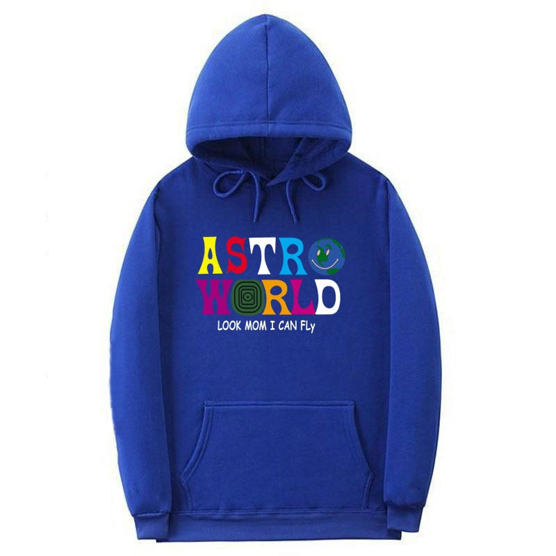 Unisex Hoodie ASTROWORLD Streetwear Letter Look Mom I Can FLy Hoodie Pullover