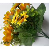 13 Heads Silk Sunflower Artificial Flowers 7 Branch/Bouquet for Home Decor