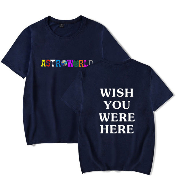 Astroworld T-Shirt Wish You Were Here Letter Print Tee