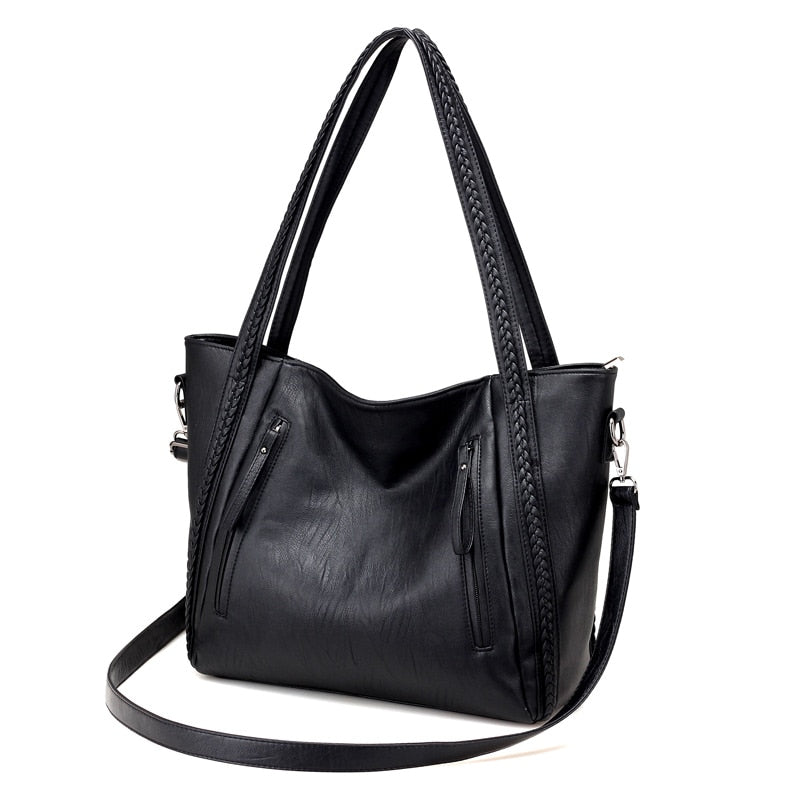 Casual Shoulder Bag Large Capacity Soft Leather Handbag