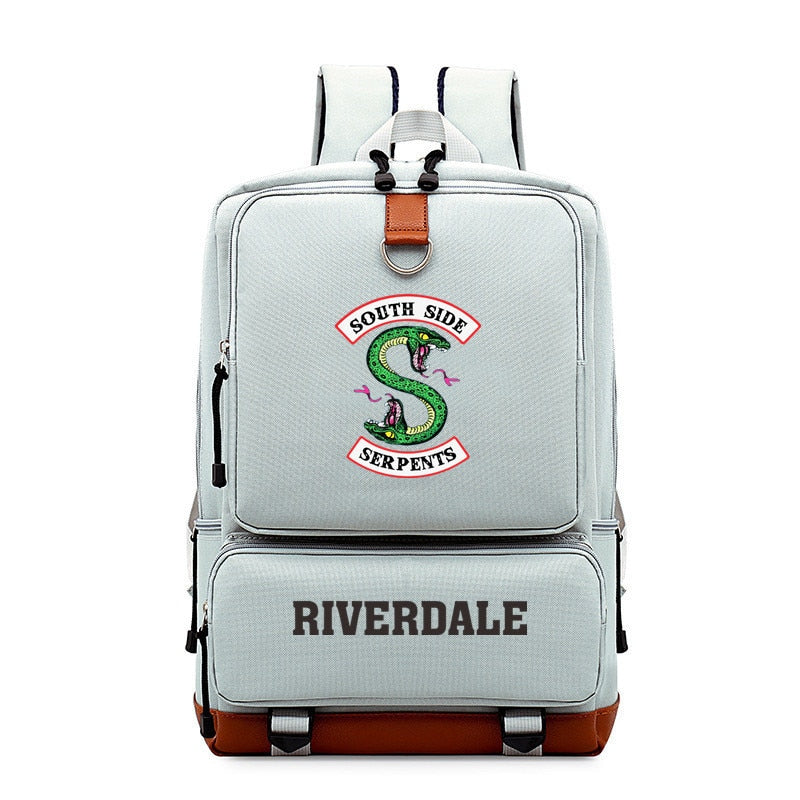 South Side Serpents Riverdale Snake Boy Girl Children School bag Women Bagpack Teenagers Schoolbags Canvas Men Student Backpack