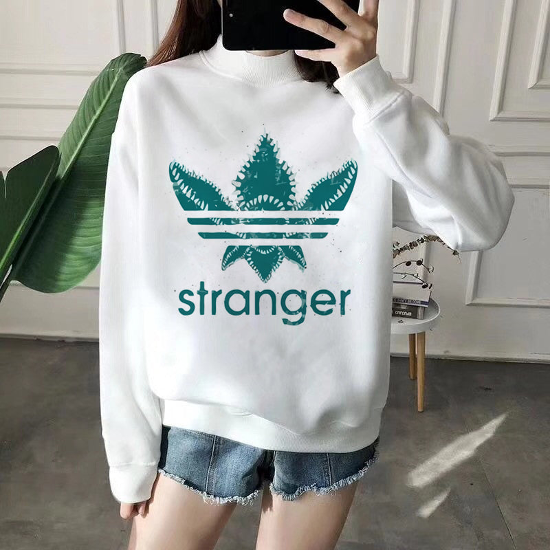 Stranger Things Upside Down Harajuku Hoodies Women Ullzang 90s Funny Cartoon Eleven Sweatshirts