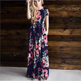 Elegant Floral Print Long Sleeve Maxi Dress Plus Size Women Vintage Long Dresses   Elastic Waist Dress 13 Styles