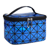 Multifunctional Cosmetic Bag Leather Zipper Toiletry Kit Bag