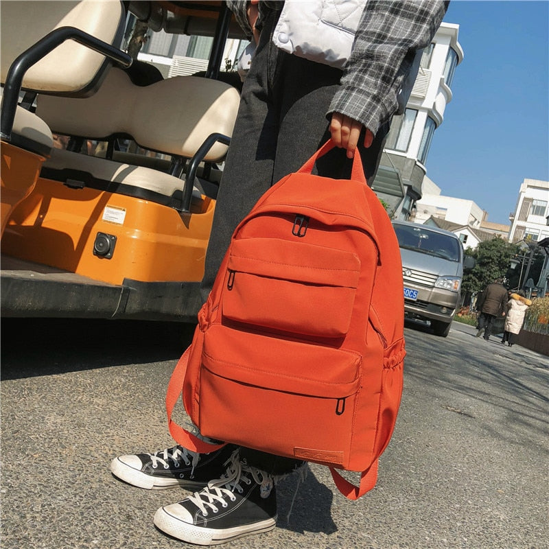 Waterproof Multi-Pocket Nylon Backpack