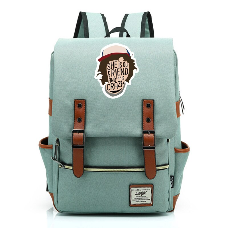 2019 Stranger Things Christmas lamp Letter Boy Girl Student School bag Teenagers Schoolbags Canvas Women Bagpack Men Backpack