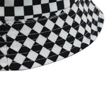 FOXMOTHER New Black White Plaid Check Bucket Hats Fishing Caps Women Mens