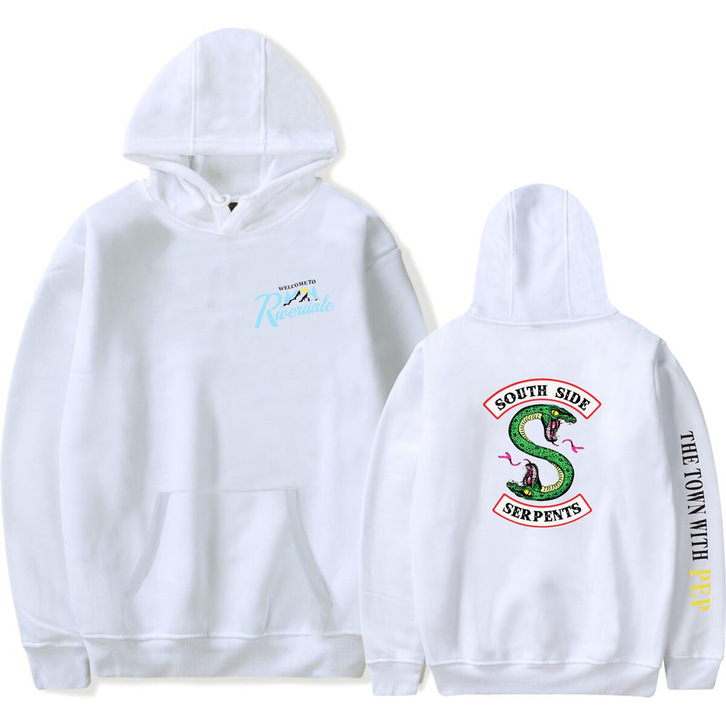 Cartoon Print Pullover Riverdale South Side Serpents Hoodie