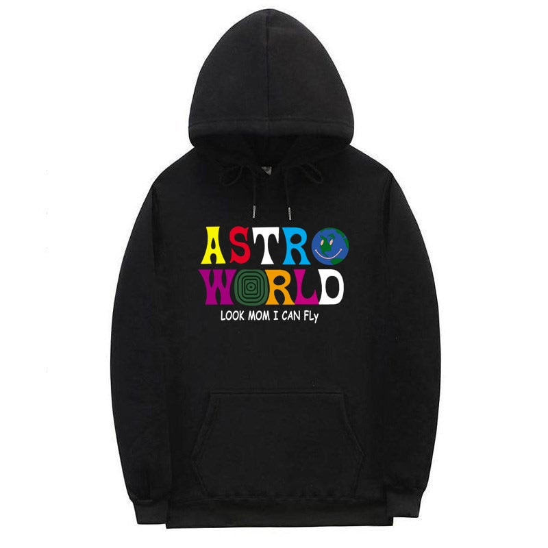 Multiple Styles ASTROWORLD HOODIE fashion Man and woman Streetwear Sweatshirt letter Look MoM I Can FLy Hoodie Pullover