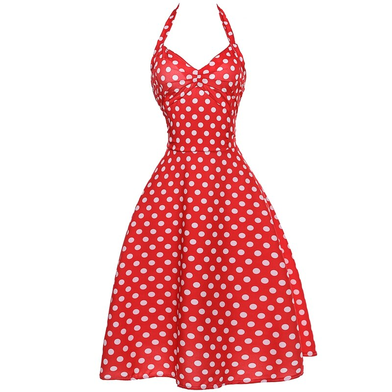 High Quality Women's 50s 60s Vintage Retro Dresses Pin Up Polka Dot Swing Dress