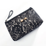 Fashion Cosmetic Bag Women Zipper Lace Makeup Bag