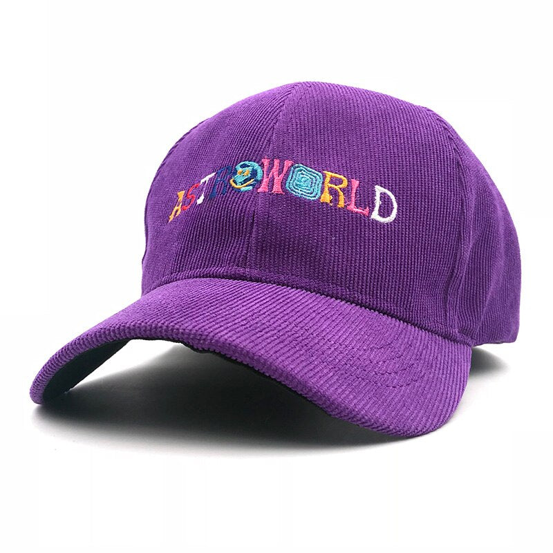 Astroworld Hat Corduroy Embroidery Baseball Cap