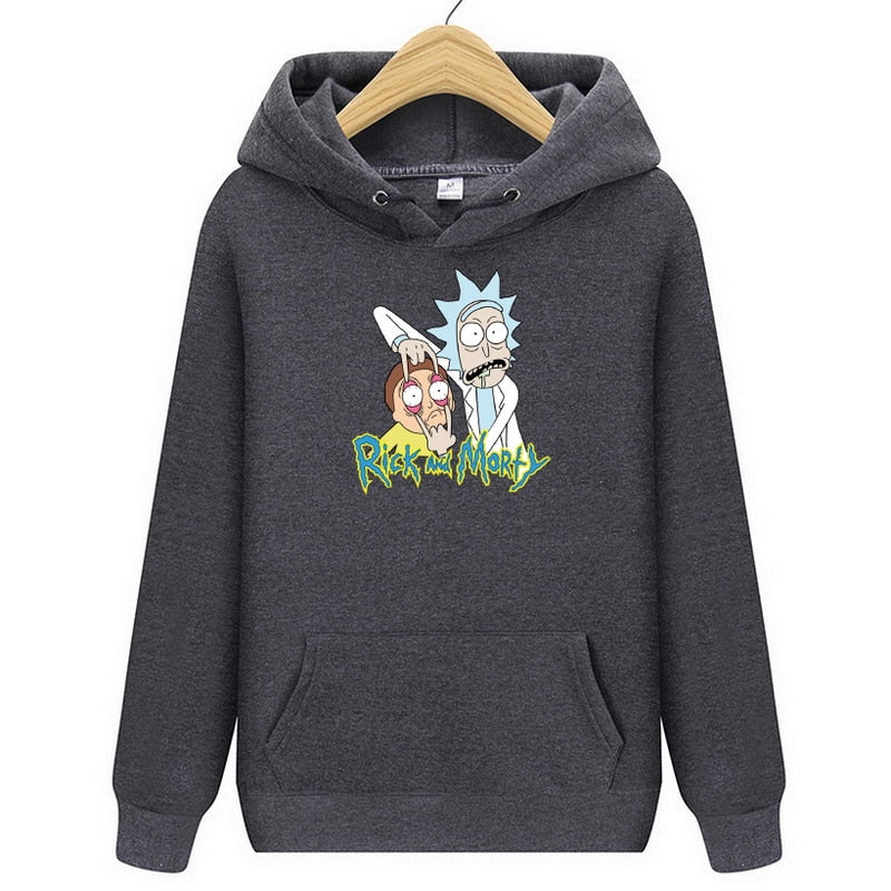 Men's Hoodies Casual Sweatshirt Male Fashion High Quality Rick And Morty Print Sweatshirts