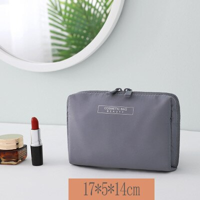 Fashion Solid Color Travel Cosmetic Waterproof  Bag