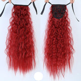 Extension Wig Long Curly Drawstring Ponytail