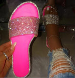 Rhinestone Candy-colored Slippers