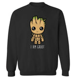 Avengers Groot Printed Sweatshirt O-neck Marvel Series Harajuku Fleece Pullover