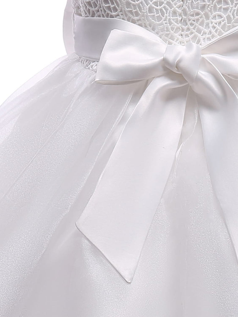 Girls Communion Dresses with Big Bow