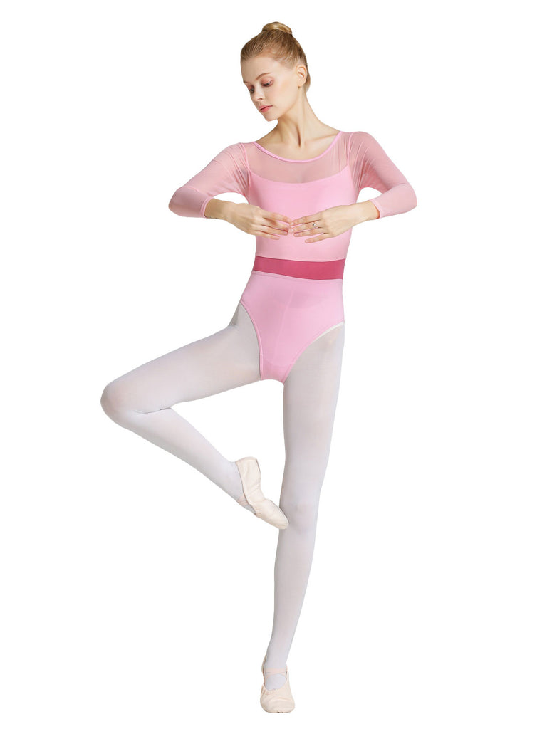 Adult Ballet Long Sleeve Mesh Leotard