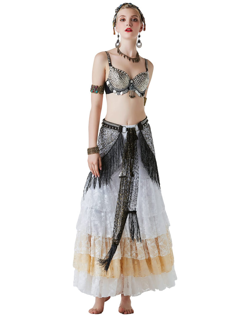Egyptian Style Professional Belly Dance Gauze Costumes