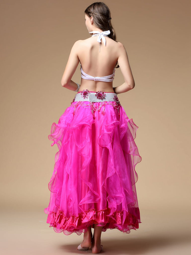 Rose flower decoration with a big swing belly dance costumes