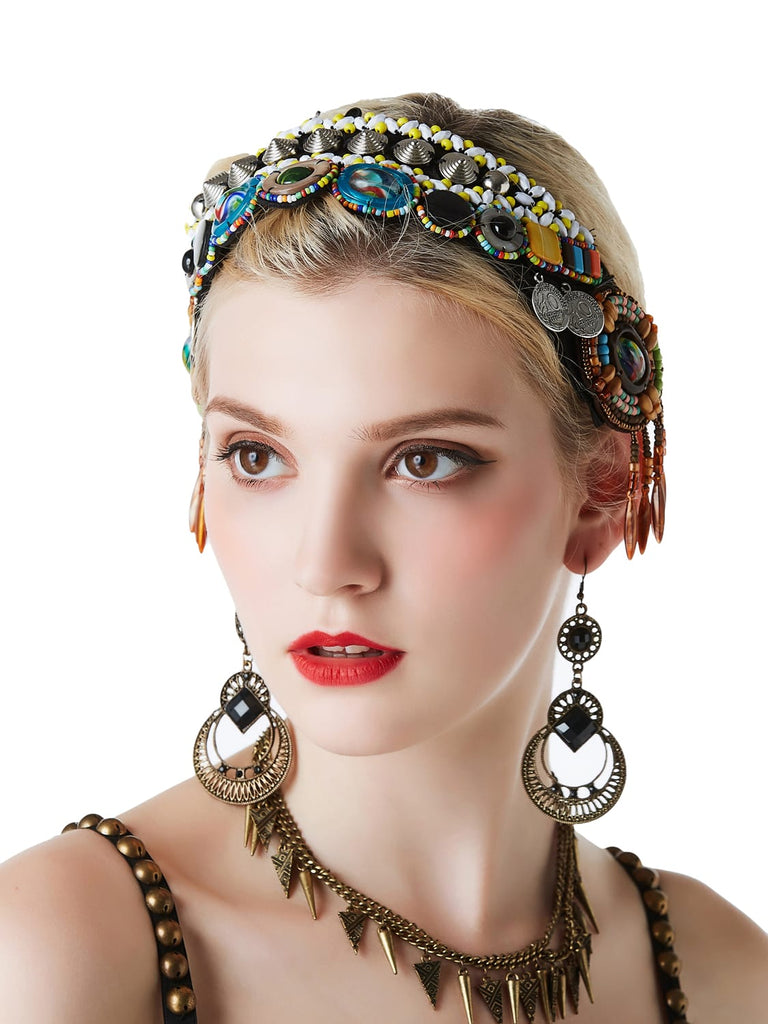 Tribal style exotic dance headdress
