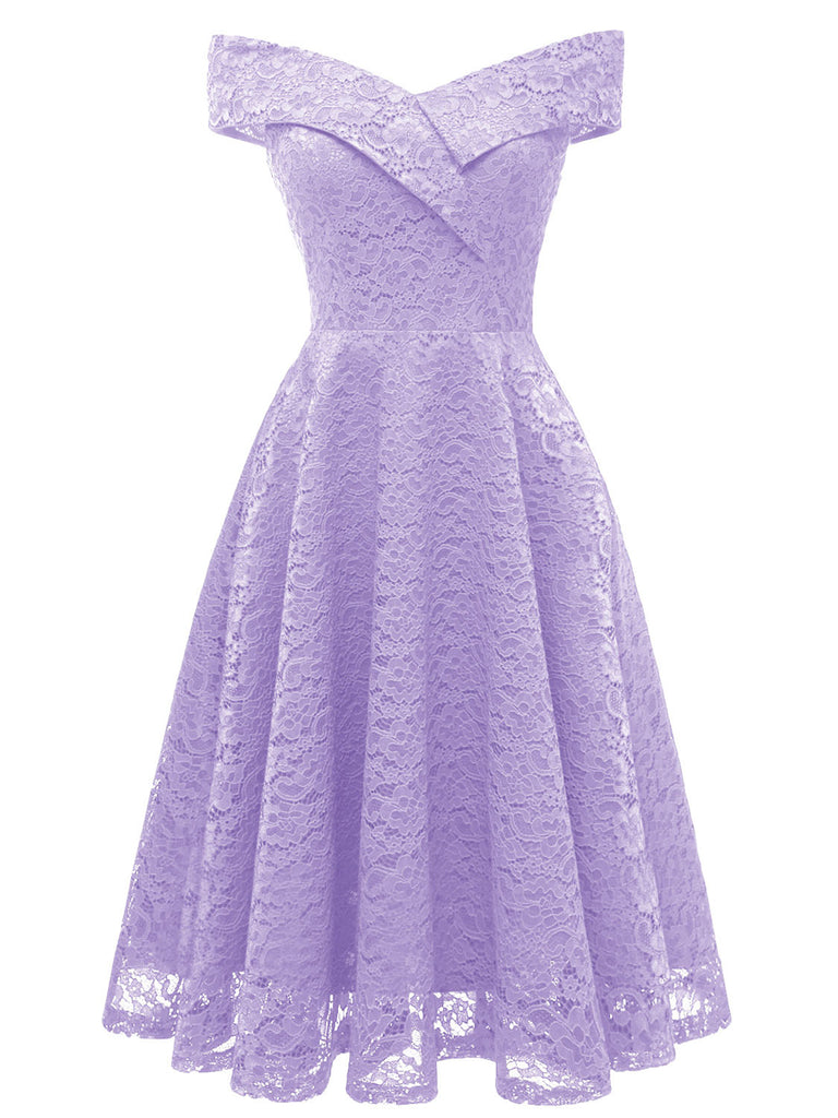 Sweet Ladylike V Neck Lace Dress