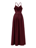 Elegant Dress Backless Split Maxi Long Dress