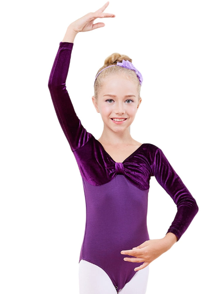 Girls Velvet Ballet Leotard