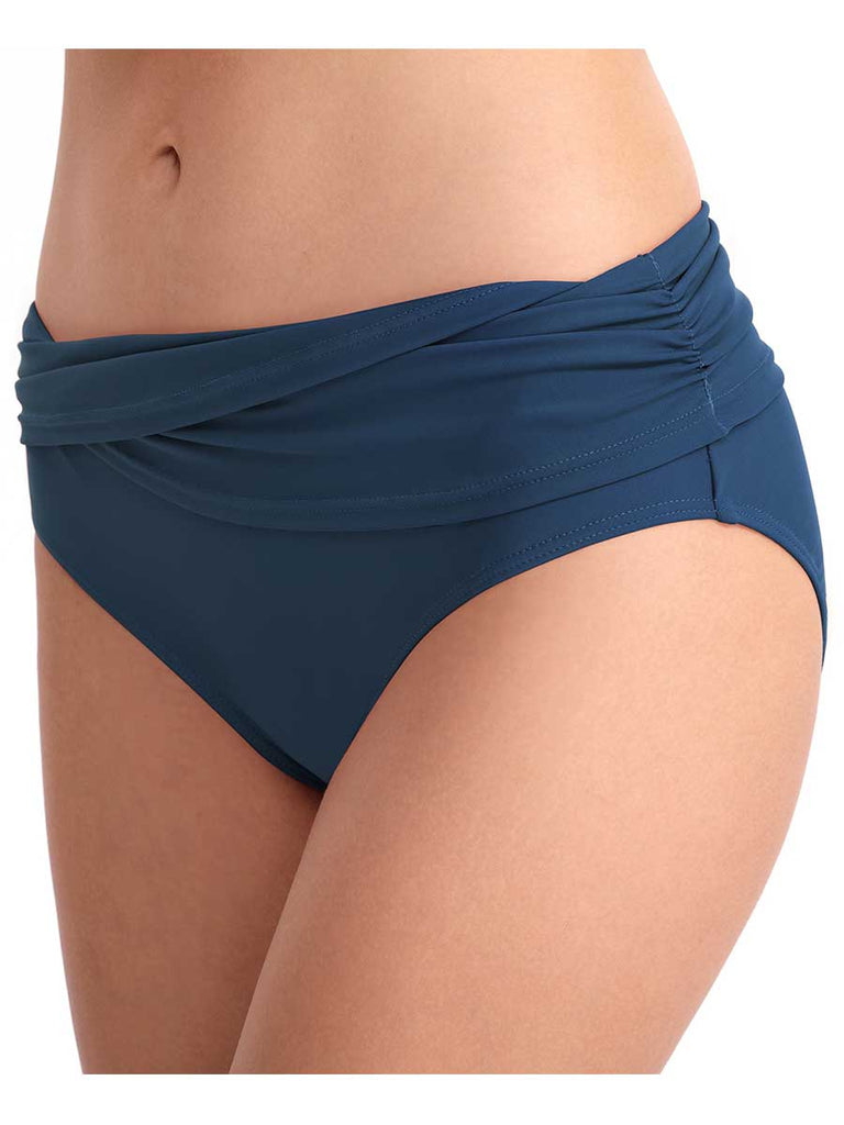 Swim Shorts Sexy Solid Color Briefs Mid-waist Swim Trunk