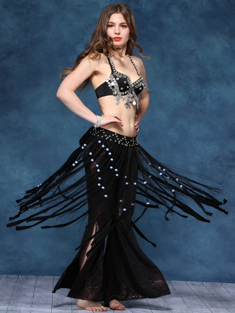 Tassel Style Top  With Waist Chain Decoration Tribal Style Belly Dance costume