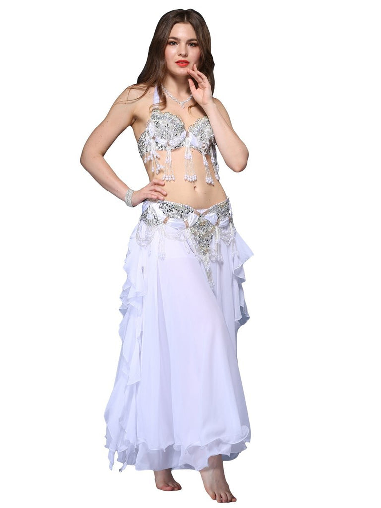 Crystal Fringed Sequin Chain Gorgeous Belly Dance Dress