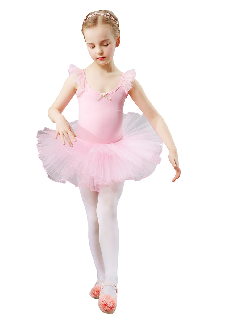 Breathable lycra cotton personalized cuff lace tulle ballet leotards