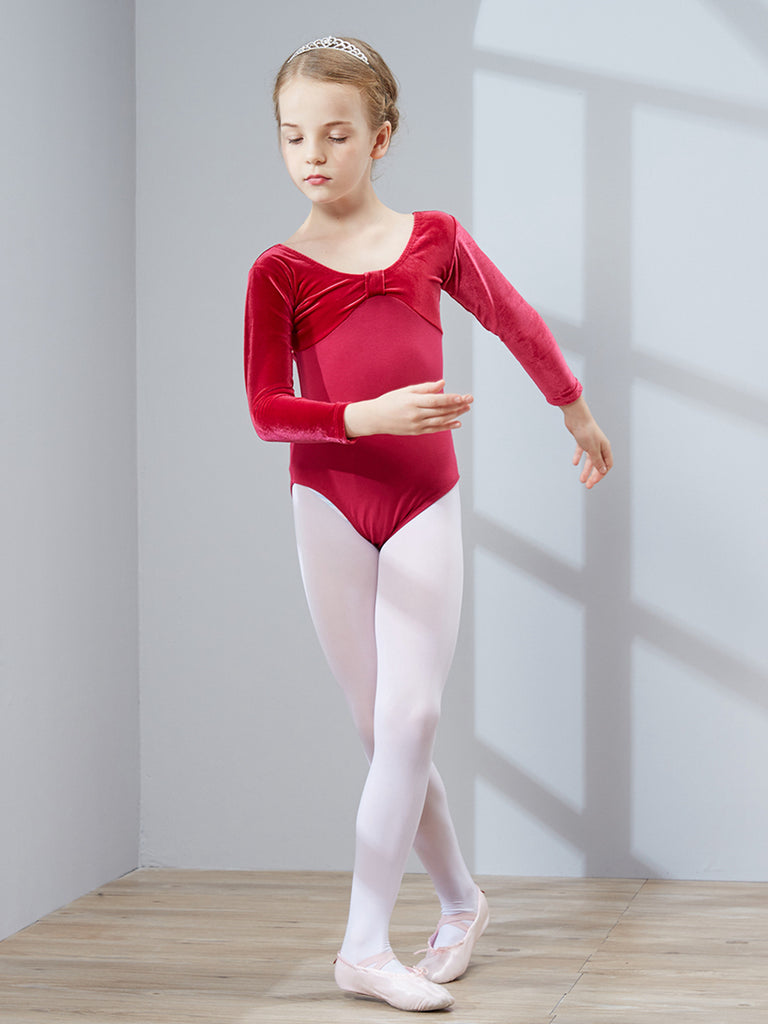 Long-sleeved velvet is gorgeous soft and breathable for a ballet tutu
