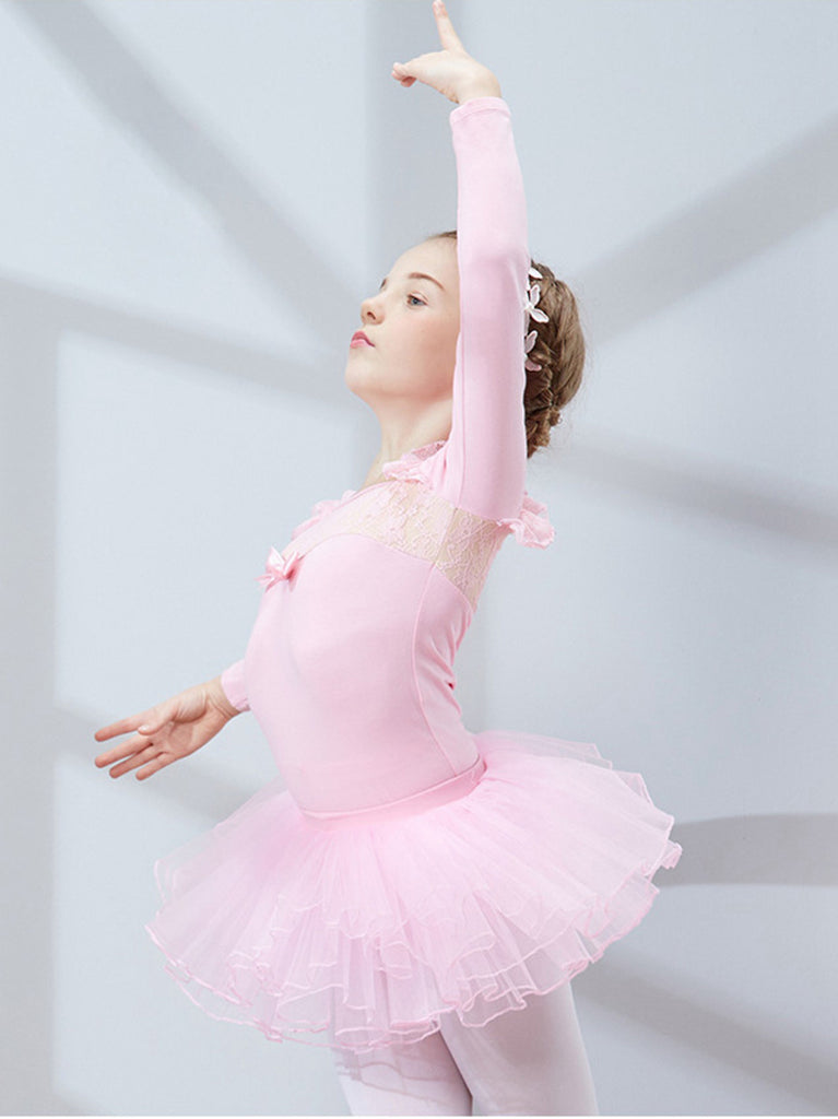 Lace Cuff Neckline Slim Breathable Tutu