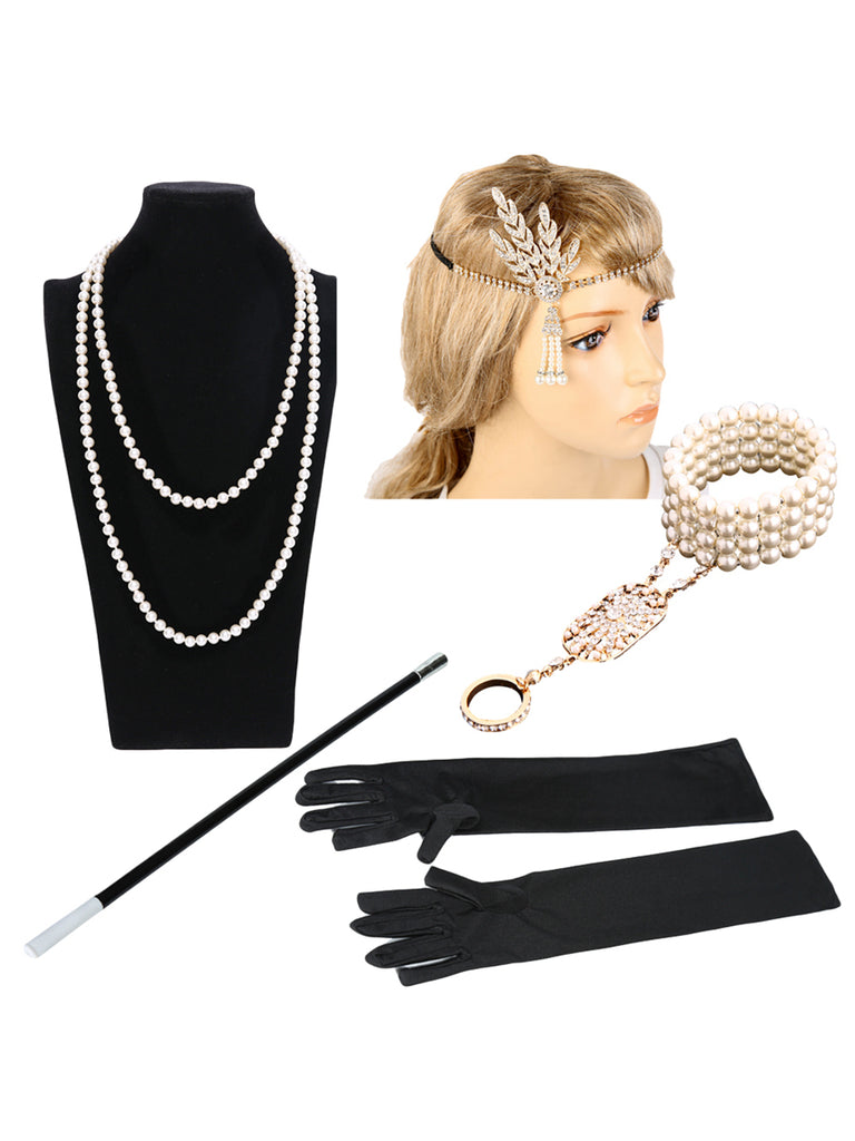 Womens Flapper Party Accessories Set
