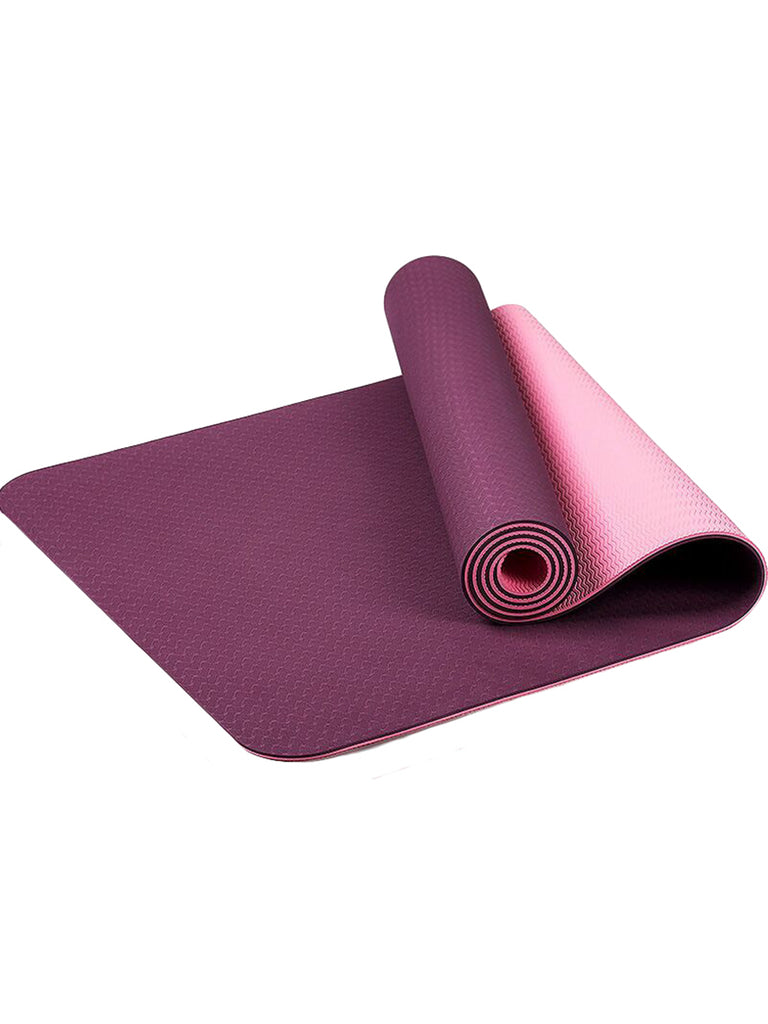 Yoga Mat Two-colored Pilates Gym Exercise Sport Mats
