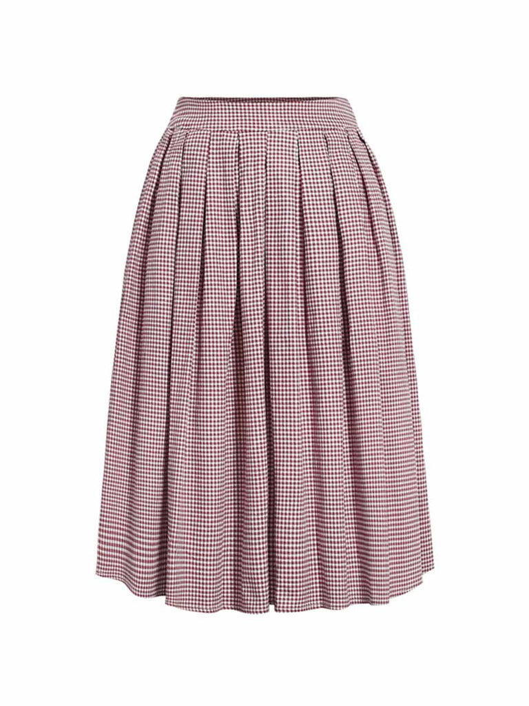 KK Womens Plus Size A-line Solid Pleated High Waist Cocktail Evening Midi Skirts