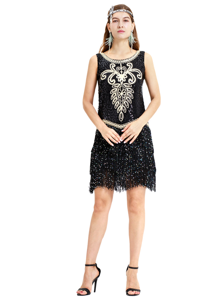 Exotic tassels Gatsby retro ornate dress