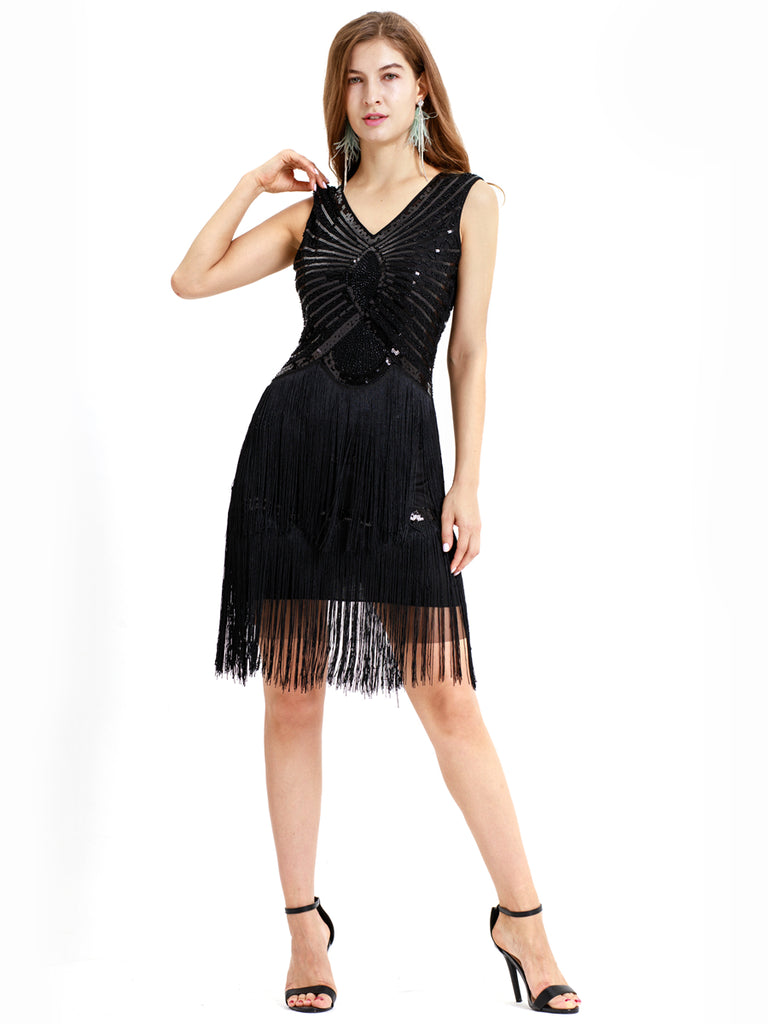 Gorgeous 1920 vintage style modern fashion tassel dress