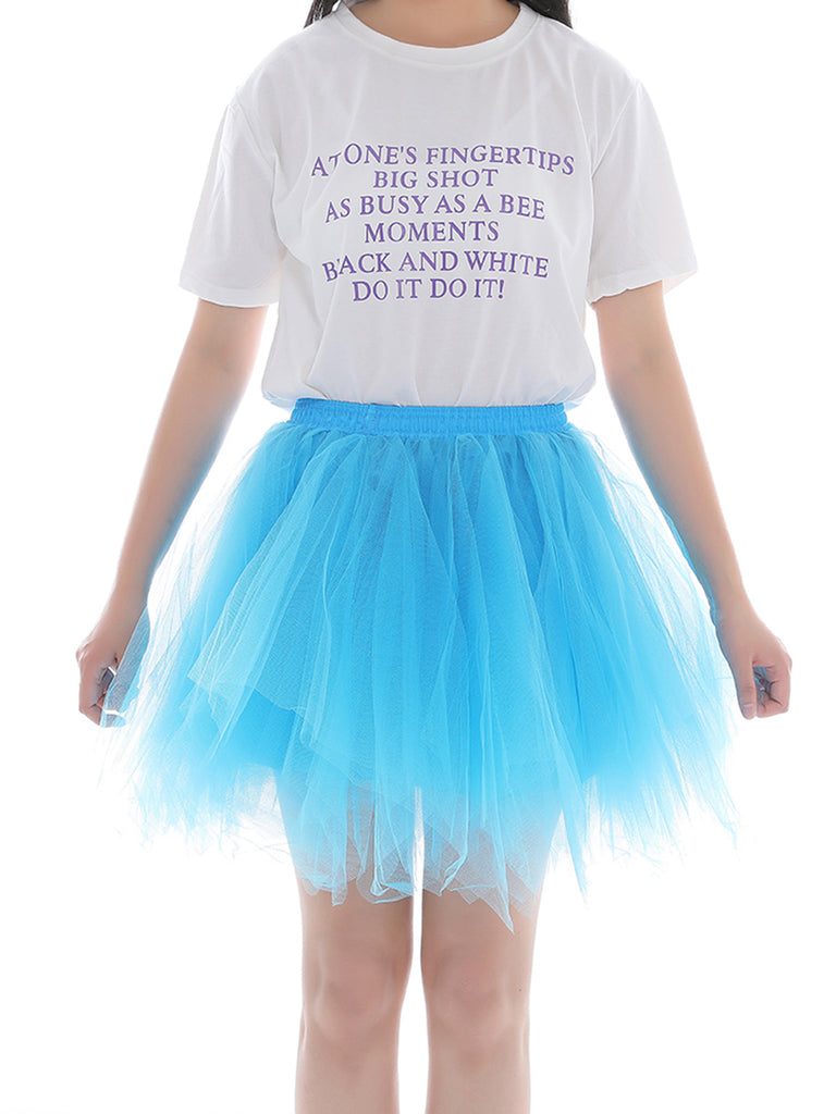 Ballet Skirt Petticoat Multi-color Tutu Non-bone Skirt