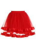 Womens A-Line Skirt Two-layered streamer Petticoat