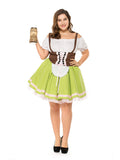 Plus Size Oktoberfest Waitress Party Dress