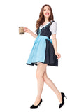 Womens Embroidered Dress Oktoberfest Fraulein Costume
