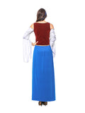 Womens Long Elegant Dress Oktoberfest Fraulein Costume