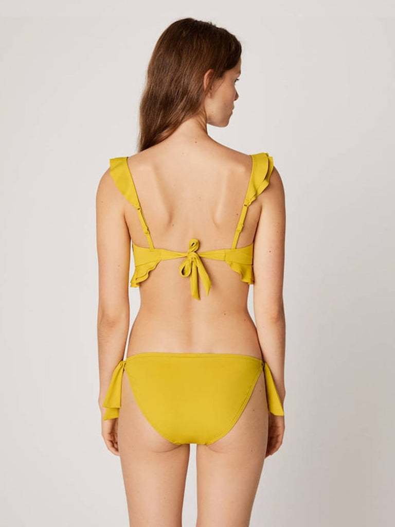 Split Swimsuit Small Chest Lotus Leaf Two-piece Bikini